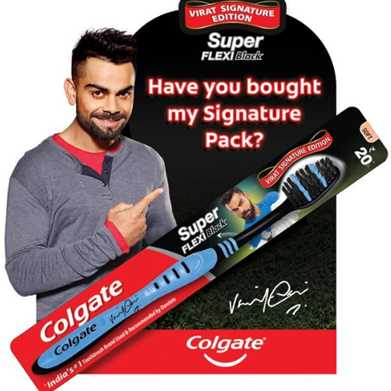 Colgate launches the Super Flexi Black Virat Kohli signature